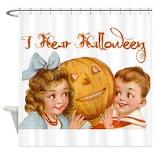 I hear Halloween Shower Curtain