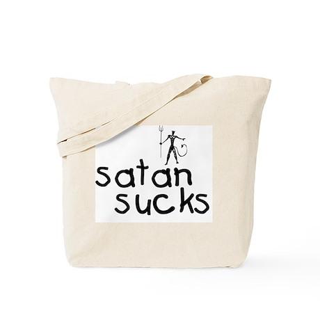 Satan Sucks 7 Tote Bag