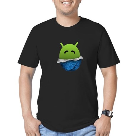 Android Unwrapped Egg Men's Fitted T-Shirt (dark)