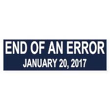 End of an Error Car Sticker