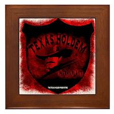 Cowboy Texas Holdem Framed Tile