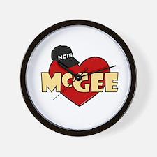 NCIS McGee Wall Clock