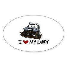 I Love My Landy Decal