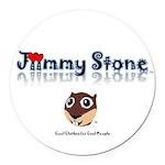 Jiimmy Stone Round Car Magnet