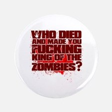 """King of the Zombies 3.5"""" Button"""