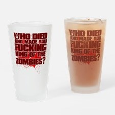 King of the Zombies Drinking Glass
