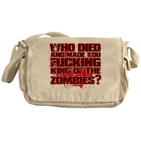 King of the Zombies Messenger Bag