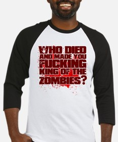 King of the Zombies Baseball Jersey