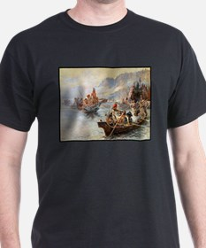 Lewis and Clark on the Lower Columbia, T-Shirt