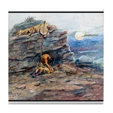 Mourning Her Warrior Dead, 1899.png Tile Coaster