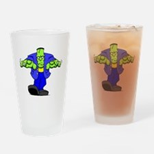 Cartoon Frankenstein Drinking Glass