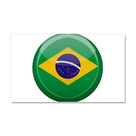 Brazilian Button Car Magnet 20 x 12