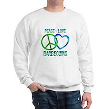 Peace Love Barbecuing Sweatshirt