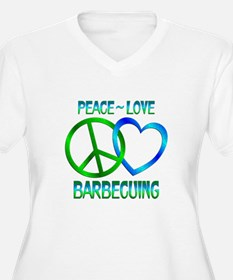 Peace Love Barbecuing T-Shirt