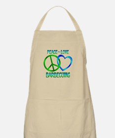 Peace Love Barbecuing Apron