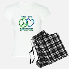 Peace Love Barbecuing Pajamas