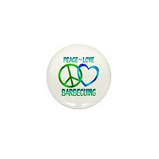 Peace Love Barbecuing Mini Button (10 pack)