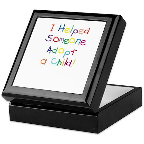 "Keepsake Box ""I helped someone adopt"""