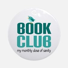 Book Club Sanity Ornament (Round)