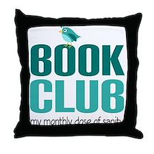 Book Club Sanity Throw Pillow