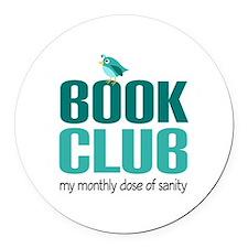 Book Club Sanity Round Car Magnet