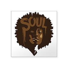 "Soul Fro Square Sticker 3"" x 3"""