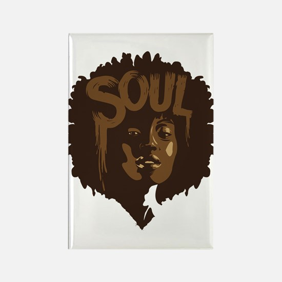 Soul Fro Rectangle Magnet