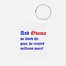 Obama So Loved The Poor Keychains