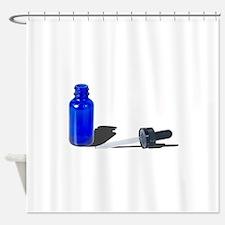 Blue Dropper Bottle Shower Curtain