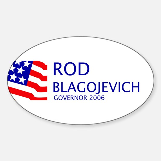 Blagojevich 06 Oval Decal