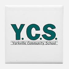 Funny Basic logo Tile Coaster
