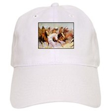 White Otter Led the Charge, detail, 1906.png Baseball Cap