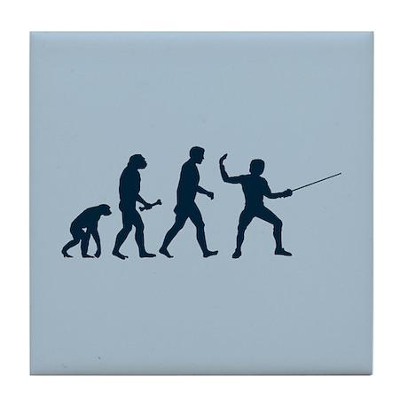 Fencing Evolution Tile Coaster