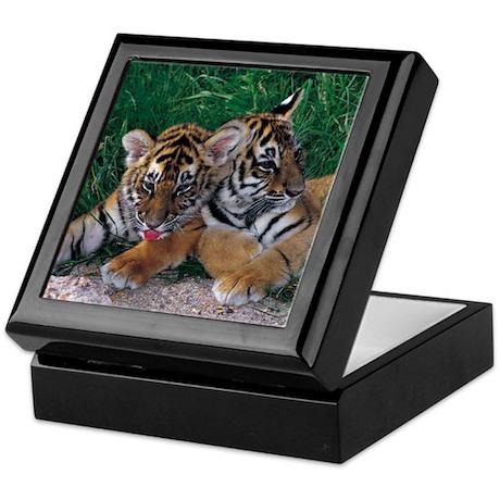 Two Baby Tigers Keepsake Box