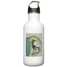 macaw parrot pastel painting Water Bottle