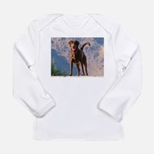 Lovable Chocolate Lab Long Sleeve Infant T-Shirt