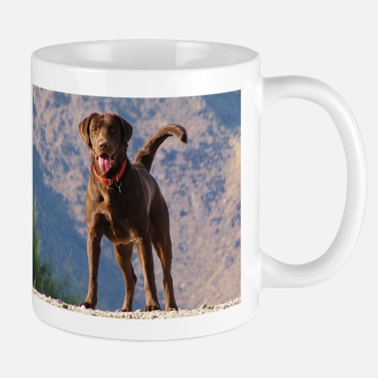 Lovable Chocolate Lab Mug