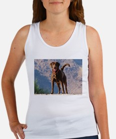 Lovable Chocolate Lab Women's Tank Top