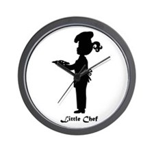 Little Chef With Plate of Cookies Wall Clock