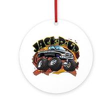 Black Jack-R-Up Ram Ornament (Round)