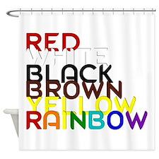 Human Race Rainbow Shower Curtain