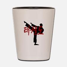 Tae Kwon Do Grunge Hanja Kanji Tee Shot Glass