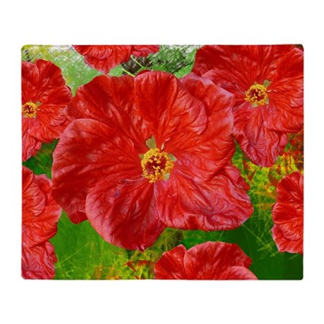 moms red flower.png Throw Blanket