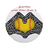 Softball Round Ornaments