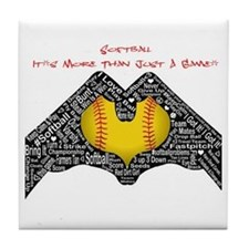 Softball - It's More Than Just A Game! Tile Coaste