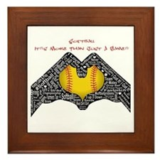 Softball - It's More Than Just A Game! Framed Tile