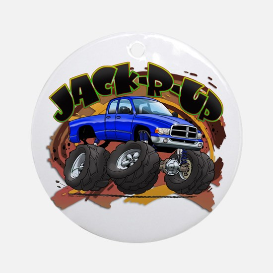 Blue Jack-R-Up Ram Ornament (Round)