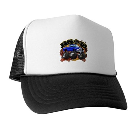 Blue Jack-R-Up Ram Trucker Hat