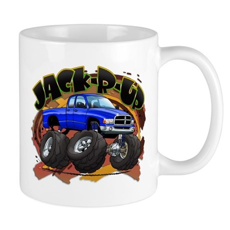 Blue Jack-R-Up Ram Mug