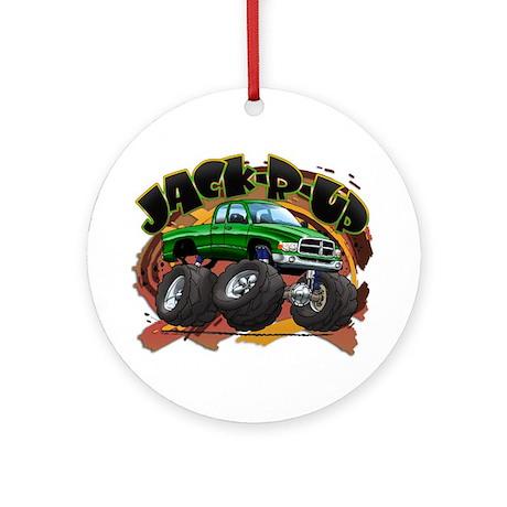 Green Jack-R-Up Ram Ornament (Round)